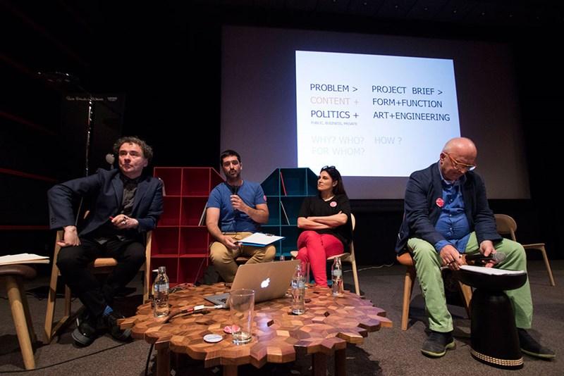 Diskusija projektiranje sadržaja ( Idis Turato, Maja Lalić, Dinko Peračić i Amir Vuk Zec) ©LIFT - prostorne inicijative
