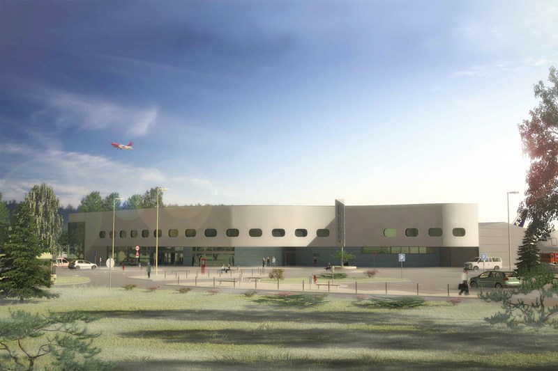 Rekonstrukcija i dogradnja pristanišne zgrade Međunarodnog aerodroma Tuzla, 3D prikaz ©Husejn Dropić