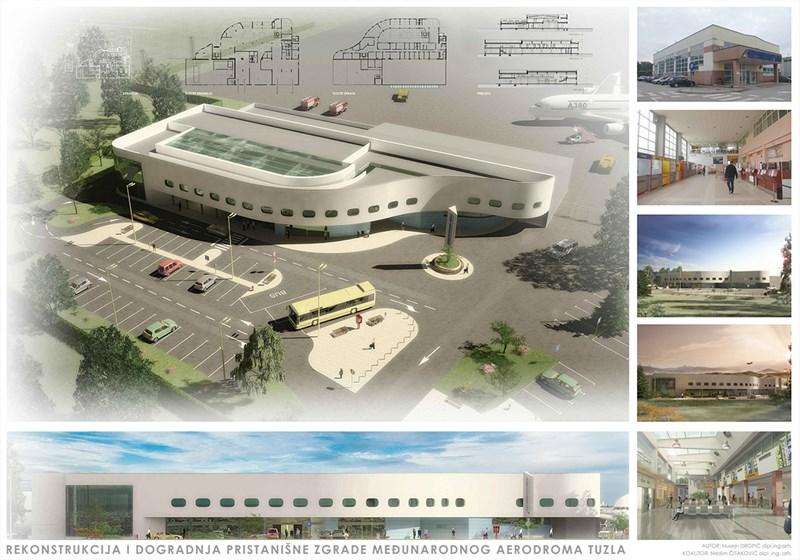 Rekonstrukcija i dogradnja pristanišne zgrade Međunarodnog aerodroma Tuzla ©Husejn Dropić