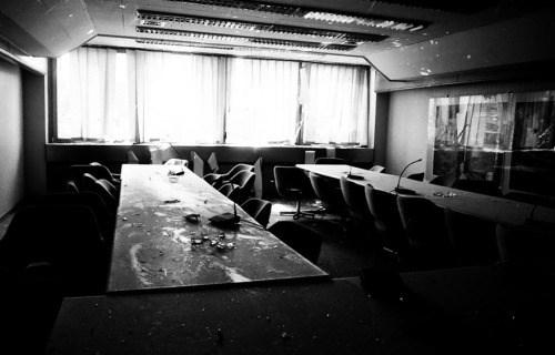 Kancelarije unutar Elektroprivrede tokom rata ©Zoran Kanlić (1993.)