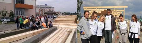 Drvena konstrukcija, čelične veze, studentski rad ©Sanela Klarić