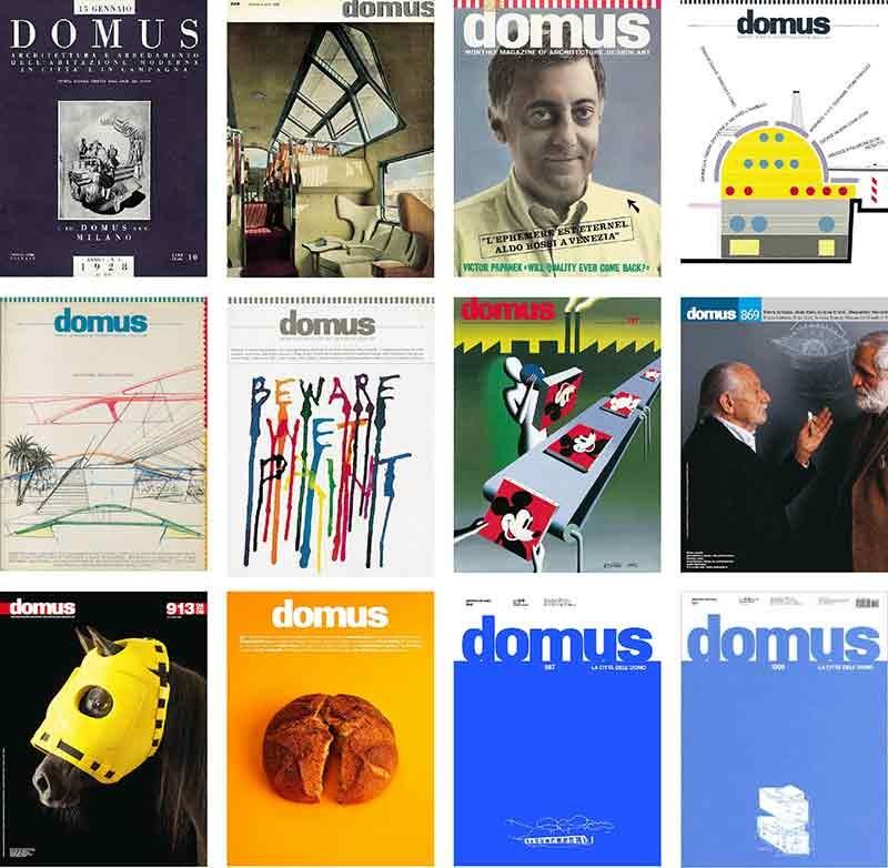 Naslovnice časopisa Domus ©Domus