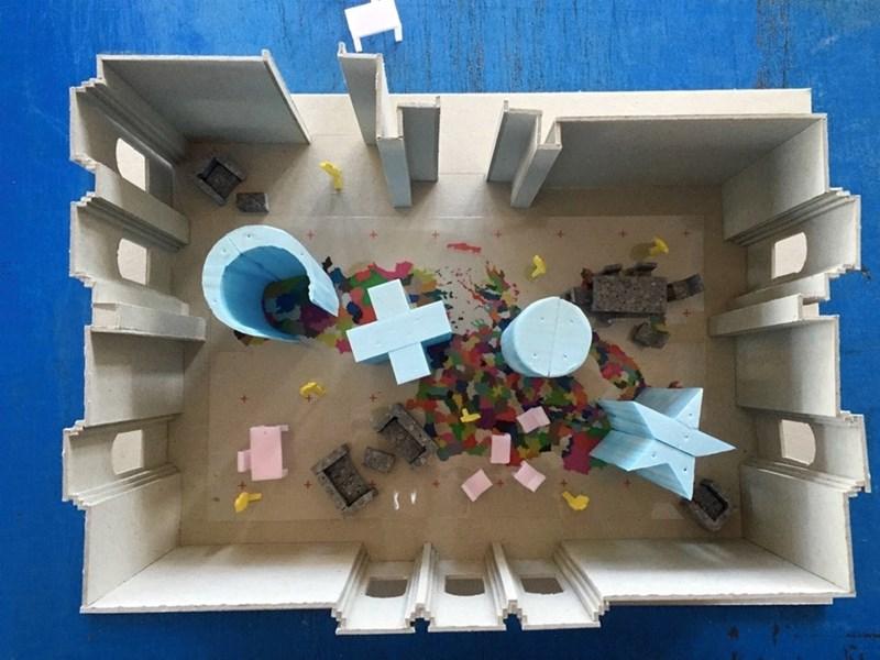 Maketa prostorne postavke izlozbe ©LIFT - prostorne inicijative