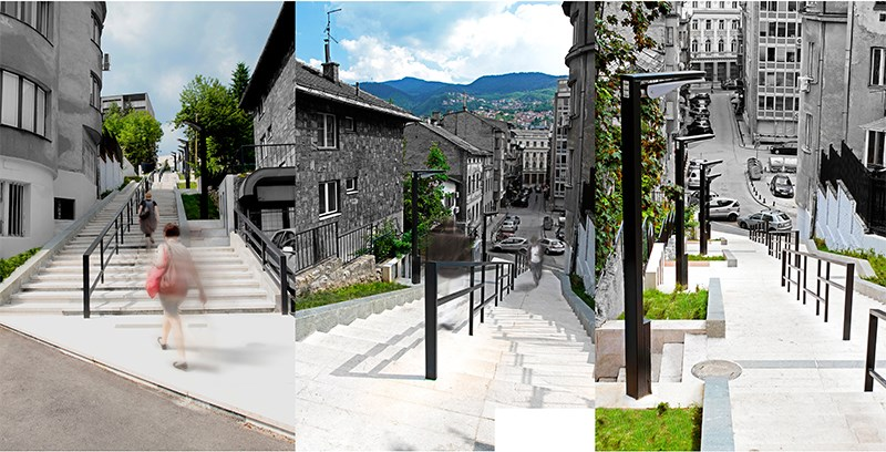 Stepenište u ulici Kaptol
