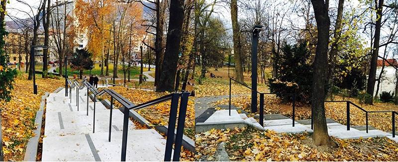 Stepenište u Velikom parku