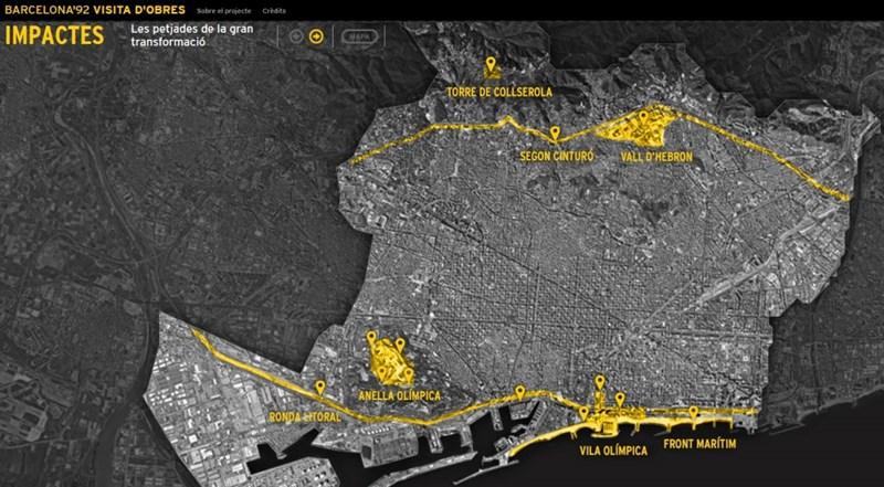 Zone transformacije Barselone za Olimpijske igre 1992. godine ©http://media-edg.barcelona.cat/wp-content/uploads/2017/02/17114137/web-visita-dobres-1024x565.jpg