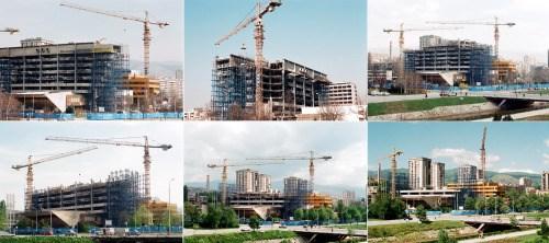 Uklanjanje uništenih dijelova Elektroprivrede ©Zoran Kanlić (2000.)