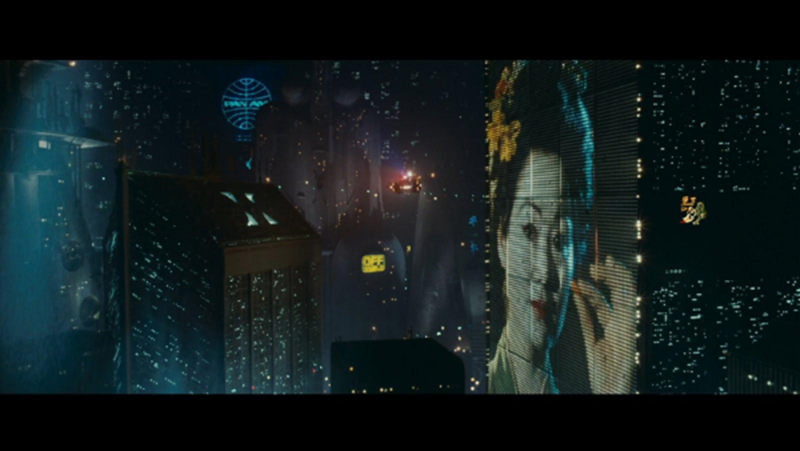 Blade Runner, 1982.  Izvor fotografije: https://fogsmoviereviews.files.wordpress.com/2011/08/20110821-065708.jpg
