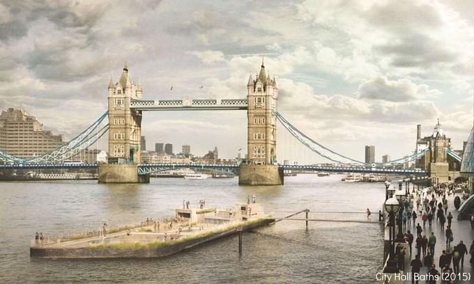 Thames baths, London; izvor: https://www.kickstarter.com/projects/thamesbaths/thames-baths-a-new-beautiful-lido-for-the-river-th