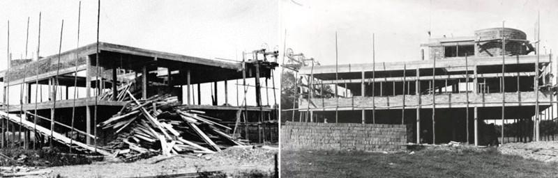 Vila Savoye u izgradnji, Poissy, 1928. godina, izvor: www.misfitsarchitecture.com