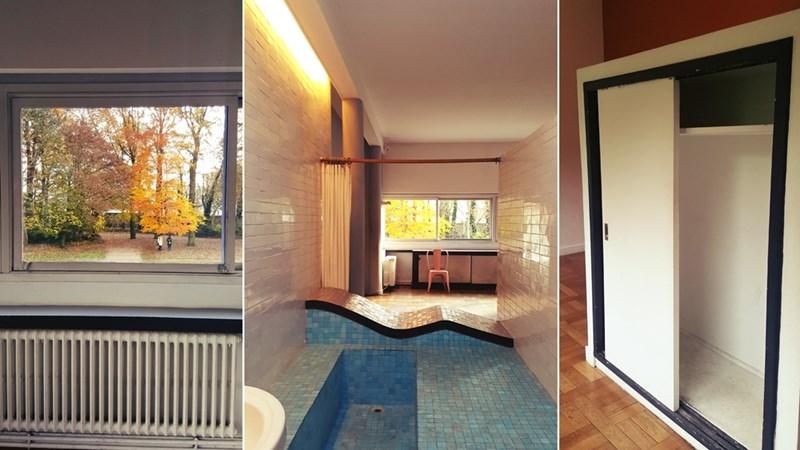 Roditeljka spavaća soba sa kupatilom i ugradbeni namještaj, vila Savoye, 17. novembar 2016., foto: Boris Trapara