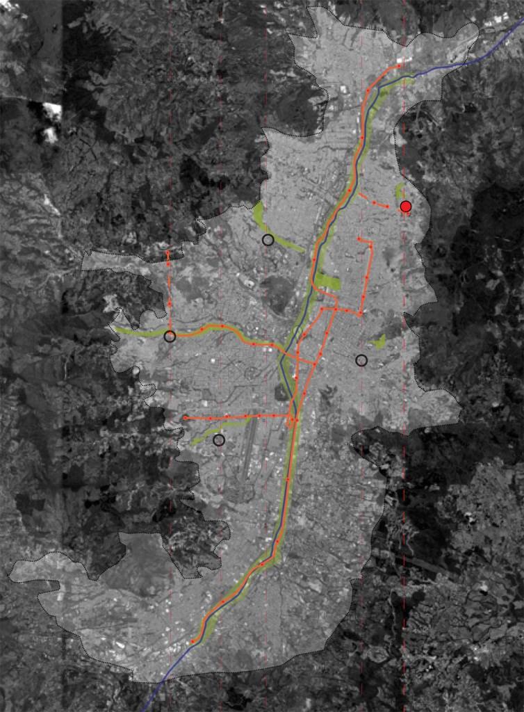 Uvezivanje dijelova grada kroz uvođenje novih oblika javnog prevoza - master plan. Projekat novih eskalatora u naseljima na padini https://favelissues.com/2010/01/