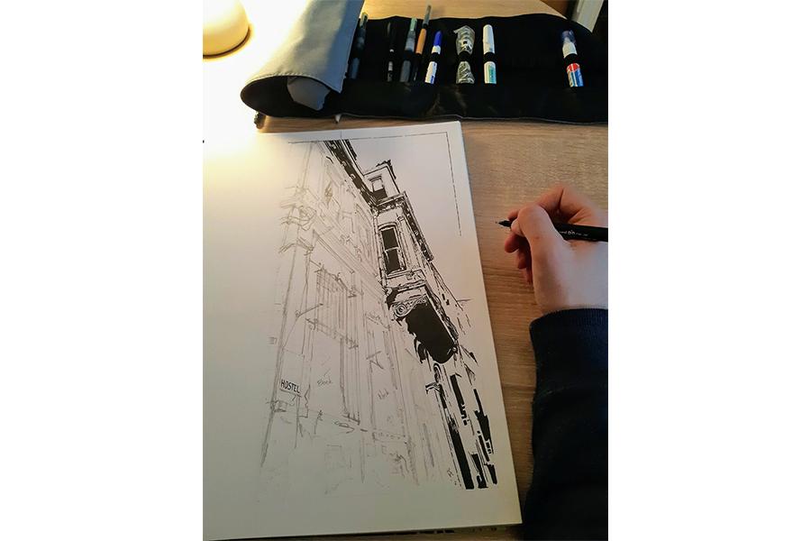 Proces 1: Proces tuširanja crteža sa slike br. 4