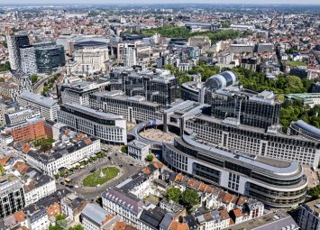 Aerial view Parliament Buildings from Place du Luxembourg © European Union